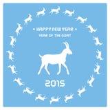 Jahr des Goat13 Stockfotos