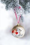 Jahr des Schaf-Weihnachtsflitters Stockbild
