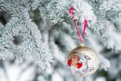 Jahr des Schaf-Weihnachtsflitters Lizenzfreies Stockfoto