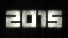 Jahr 2015 - flackernde Lichter stock abbildung