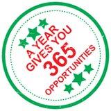 Jahr gibt Ihnen 365 Gelegenheiten stock abbildung