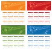 Jahr-Kalender-Musik-Raum Lizenzfreies Stockbild