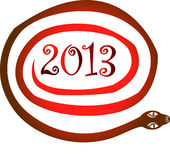 Jahr mit 2013 Schlangen lizenzfreie abbildung