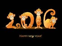 Jahr mit 2016 Affen Stockfoto