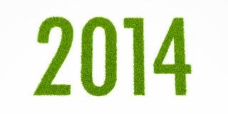 Jahr mit 2014 Gräsern Lizenzfreie Stockfotos