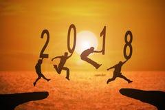 Jahr mit 2018 Nachrichten Lizenzfreie Stockfotos