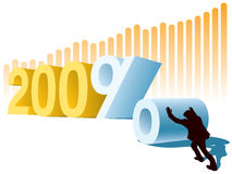 Jahr oder Profit Stockbilder