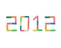 Jahr Plasticinezahl 2012 Lizenzfreies Stockfoto