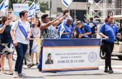 55. Jahrbuch 'feiern israelische 'Parade in New York City stockfotografie