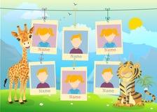 Jahrbuch für Kindergarten mit Tieren Lizenzfreie Stockfotografie