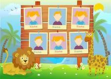Jahrbuch für Kindergarten mit Tieren Stockbilder