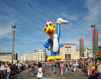 Jahrbuch steigt Tagesparade im Ballon auf lizenzfreies stockfoto