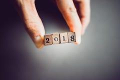 Jahrdatum 2018 Lizenzfreie Stockfotos