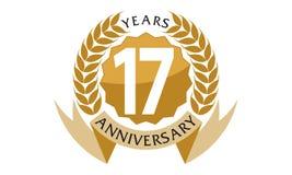 17 Jahre Band-Jahrestags- Stockbilder