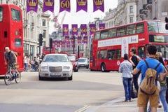 60 Jahre der Herrschaft der Königin Elizabeth II Stockfotos