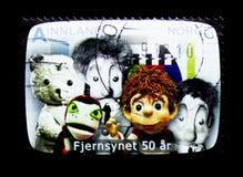 50 Jahre des norwegischen Fernsehens, serie, circa 2010 Lizenzfreie Stockfotografie