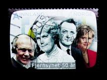 50 Jahre des norwegischen Fernsehens, serie, circa 2010 Lizenzfreies Stockbild