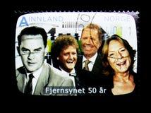 50 Jahre des norwegischen Fernsehens, serie, circa 2010 Lizenzfreie Stockfotos