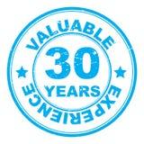 30 Jahre erläuterte Stempel Stockfoto