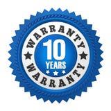 10 Jahre Garantie-Ausweis-lokalisiert Stockfoto
