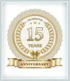 15 Jahre Jahrestag Lizenzfreie Stockbilder