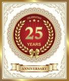 25 Jahre Jahrestag Stockbild