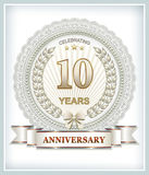 10 Jahre Jahrestag vektor abbildung