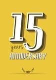 15 Jahre Jahrestag Stockbilder