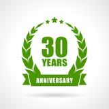 30 Jahre Jahrestag Stockfoto