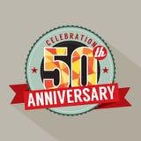 50 Jahre Jahrestags-Feier-Design- vektor abbildung