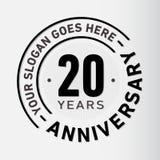 20 Jahre Jahrestags-Feier-Entwurfs-Schablonen- Jahrestagsvektor und -illustration Zwanzig Jahre Logo vektor abbildung