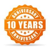 10 Jahre Jahrestagsfeiervektor-Ikone Lizenzfreie Stockfotografie