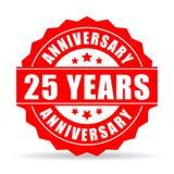 25 Jahre Jahrestagsfeiervektor-Ikone Lizenzfreie Stockfotos