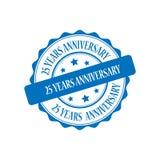 25 Jahre Jahrestagsstempel-Illustration Lizenzfreies Stockfoto