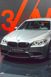 30 Jahre M5 Edition. Moscow International Automobile Salon Metalic color Royalty Free Stock Images