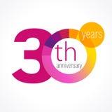 30 Jahre runde Logo Stockfotos
