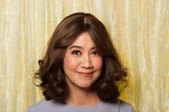 Jahre 50s 60s altes Mode-Asiatin-Porträt stockfotografie