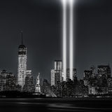 12 Jahre später… des Tributs in den Lichtern, 9/11 Stockbild