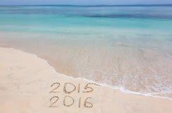 Jahre 2015 und 2016 Lizenzfreies Stockbild
