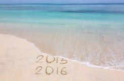 Jahre 2015 und 2016 Lizenzfreie Stockfotos