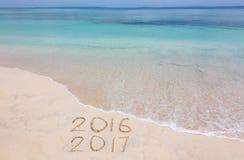 Jahre 2016 und 2017 Stockfoto