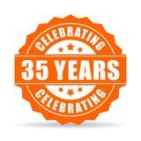 35 Jahre Vektorikone feiernd Lizenzfreies Stockfoto