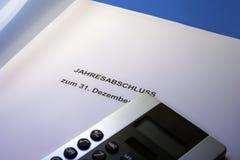 Jahresabschluss Steuererklärung Stock Afbeelding