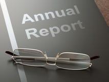 Jahresbericht Stockbild