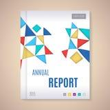 Jahresbericht-Abdeckungsvektorillustration Stockfotos