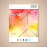 Jahresbericht-Abdeckungsvektorillustration Lizenzfreies Stockfoto