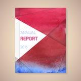 Jahresbericht-Abdeckungsvektorillustration Lizenzfreie Stockfotografie