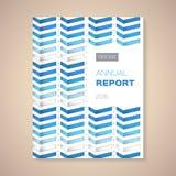 Jahresbericht-Abdeckungsvektorillustration Stockbilder