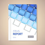 Jahresbericht-Abdeckungsvektorillustration Stockfotografie