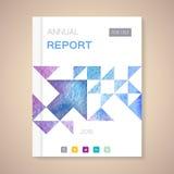 Jahresbericht-Abdeckungsvektorillustration Stockfoto